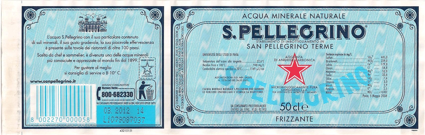 サンペレグリノラベル